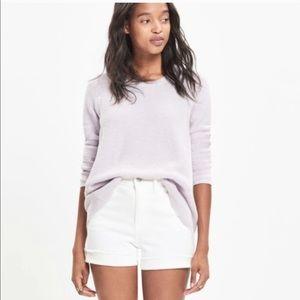 Madewell Lilac Riverside Sweater